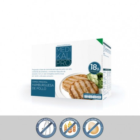 Hamburguesa de pollo (3uds) MEDIKALPRO