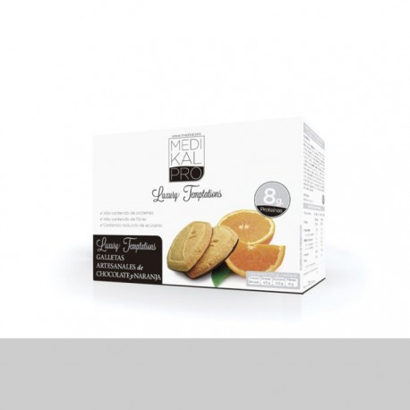 Galletas artesanales de chocolate y naranja (5uds) MEDIKALPRO